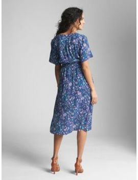 Maternity Floral Short Sleeve Wrap Dress by Gap