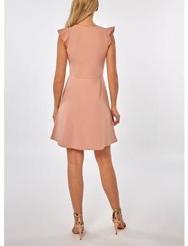 **Blush Blush Ruffle Skater Dress by Dorothy Perkins