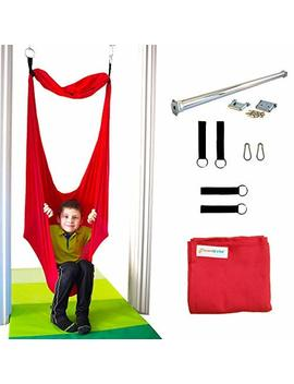 Dream Gym Sensory Doorway Swing | Therapy Indoor Swing | 95 Percents Cotton | Hardware Included (Red) by Dream Gym
