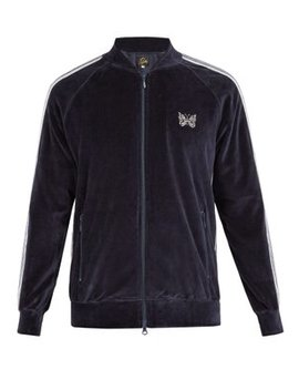 Side Stripe Velour Track Jacket by Needles