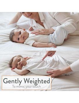 "Swaddle   ""Classic"" Zen Swaddle   Weighted Baby Swaddle Blanket Mimics Touch. 2 In 1 Size (0 6 Months). 100 Percents Cotton. (White) by Amazon"
