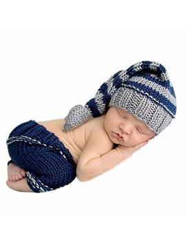 Changeshopping Newborn Girls Boys Crochet Knit Costume Photo Photography Prop Outfits by Amazon