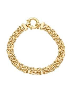 Sterling Silver 7.5 In. Byzantine Chain Bracelet by Kohl's