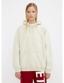 Hooded Fitted Inside Out Sweater In White by Vetements