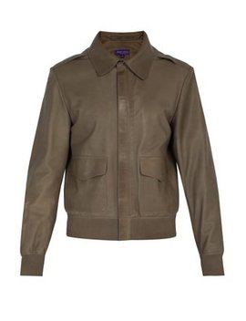 Henfield Leather Aviator Jacket by Ralph Lauren Purple Label