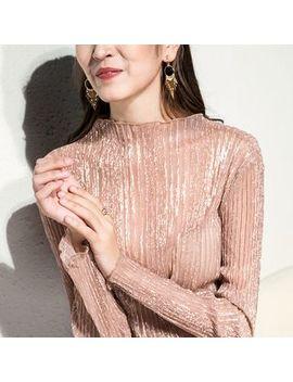 Danyu   Long Sleeve Sheer Top by Danyu
