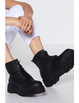 Tough It Out Hiker Boot by Nasty Gal