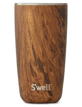 Teakwood 18 Ounce Stainless Steel Insulated Tumbler by S'well