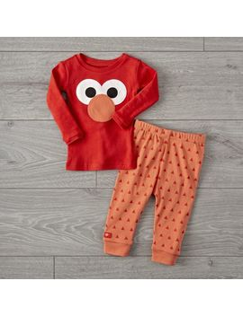 Sesame Street Elmo 3 T Pajama Set by Crate&Barrel