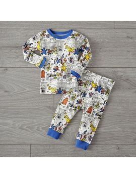 Sesame Street Comic 2 T Pajama Set by Crate&Barrel
