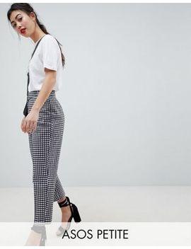 Asos Design Petite   Pantalon Fuselé Et Ajusté à Carreaux Vichy Avec Ceinture Et Boucle by Asos Design