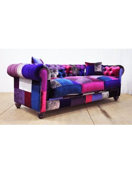 Chesterfield Patchwork Sofa   Purple Love by Etsy