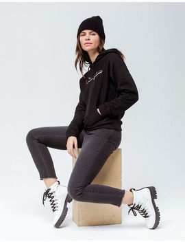 Champion Chenille Script Black Womens Hoodie by Champion