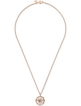 Porte Bonheur 14 Karat Gold, Enamel, Tanzanite And Diamond Necklace by Marlo Laz