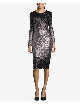 Ombré Sequined Sheath Dress by Betsy & Adam