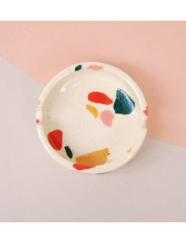 Modern Ceramic Ashtray / Terrazzo Tray / Accessories Tray by Etsy