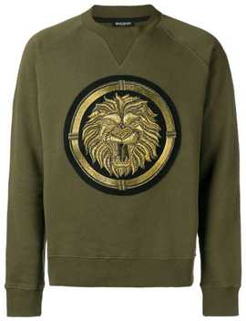 Copper Lion Crewneck Sweatshirt by Balmain