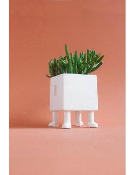 Four Legged Pot   Ceramic Planter   Square Shape   Handmade by Etsy