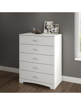 Step One 5 Drawer Pure White Dresser by South Shore