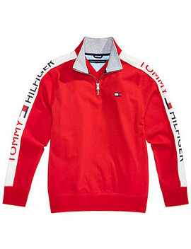 Little Boys Colorblocked Quarter Zip Cotton Pullover by Tommy Hilfiger