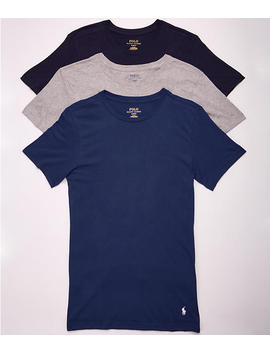 Classic Fit Cotton T Shirt 3 Pack by Polo Ralph Lauren
