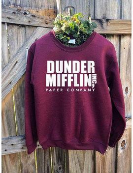 The Office Dunder Mifflin Crewneck Sweatshirt, Paper Company Inc, Dunder Mifflin Sweatshirt, Dwight Schrute, Michael Scott, Tv Show Office by Etsy