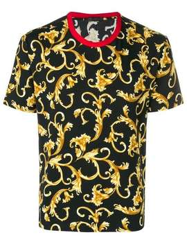 Baroque Patterned T Shirt by Versace