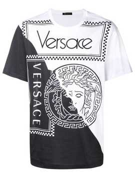 Two Tone Medusa T Shirt by Versace