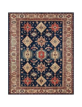 Ruggable Washable Indoor/ Outdoor Stain Resistant Pet Area Rug Noor Sapphire (8' X 10') by Ruggable