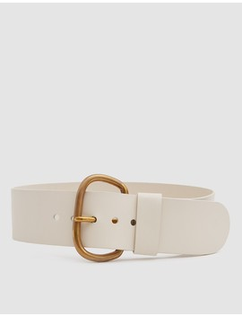 Wide Estate Belt In Bone by Rachel Comey