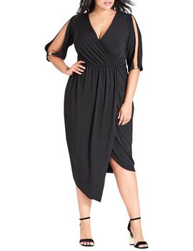 Soul Sister Faux Wrap Dress by City Chic