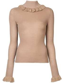 Ruffled Collar Knit Sweater by Jill Stuart