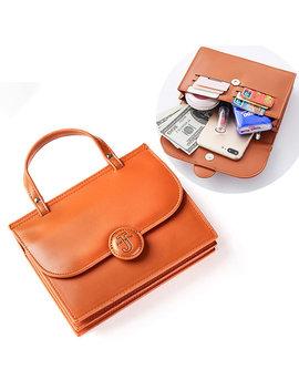 Women Casual Multi Slot Crossbody Bags Mini Solid 6 Card Slot Phone Bags Handbags by Newchic