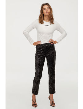 Pull On Sequined Trousers by H&M