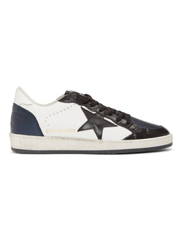 Blue & Black Ball Star Sneakers by Golden Goose