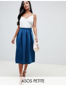 Asos Design Petite Scuba Midi Prom Skirt by Asos Design