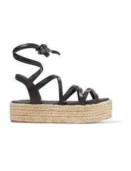 Leather Espadrille Platform Sandals by Zimmermann