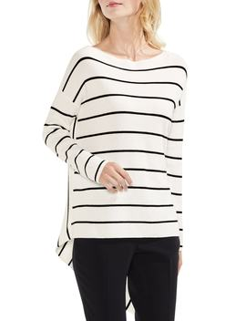 Asymmetrical Hem Stripe Sweater by Vince Camuto