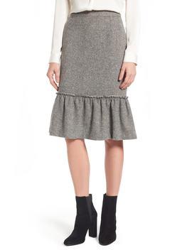 Ruffle Hem Pencil Skirt by Halogen®