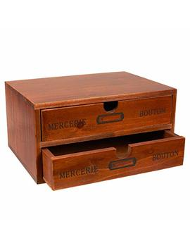 Organizer Holder Storage Drawers   Decorative Wooden Drawers With Chic French Design   9.75 X 7 X 5 Inches by Juvale