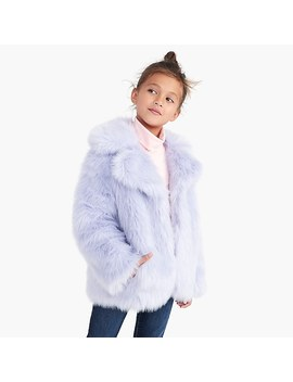 Girls' Faux Fur Coat by J.Crew