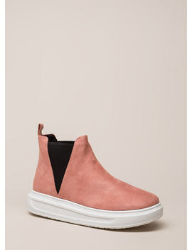High There Faux Suede Platform Sneakers by Go Jane