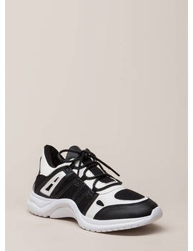 Gotta Run Stripe Accent Mesh Sneakers by Go Jane