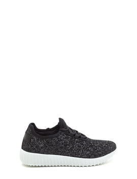 All Glitz Lace Up Sneakers by Go Jane