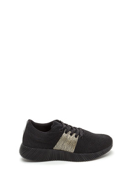 Gleam Up Textured Contrast Sneakers by Go Jane