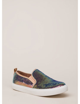 Staying In Sequins Slip On Sneakers by Go Jane