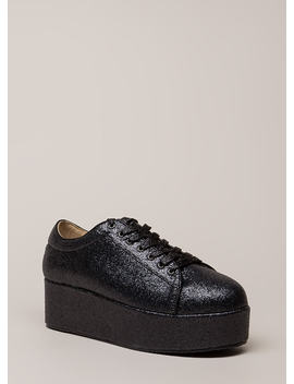 Going For Glitter Platform Sneakers by Go Jane