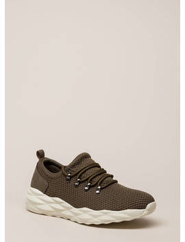 New Dimensions Knit Platform Sneakers by Go Jane