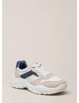 Home Run Faux Suede Platform Sneakers by Go Jane