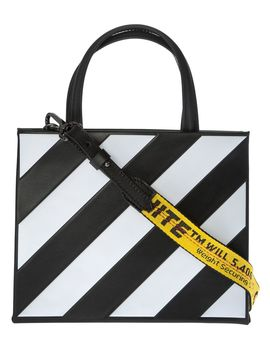 Off White Striped Tote by Off White